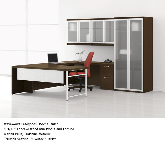 national office furniture waveworks casegoods in private office