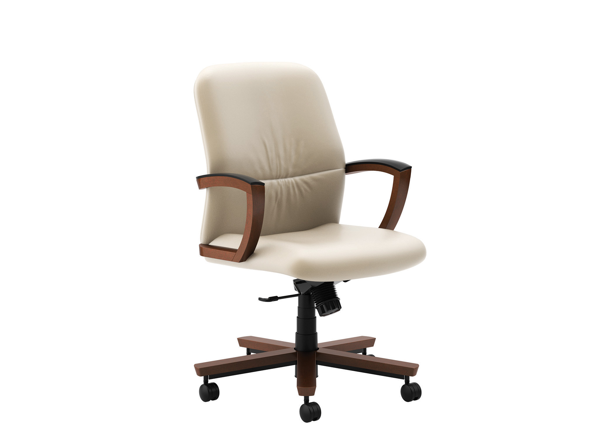 Wood conference chairs - Low Back Wood Arms