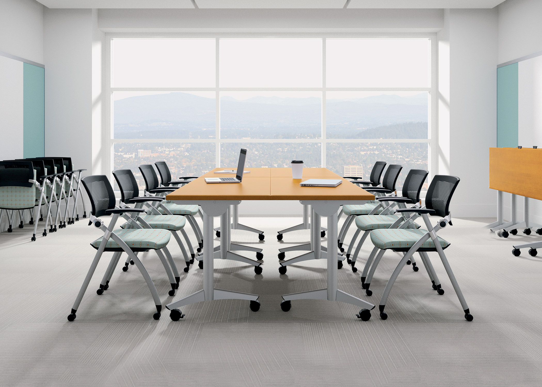 Products   National Office Furniture. Folding Conference Room Chairs With Wheels. Home Design Ideas