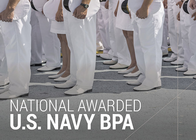 National Awarded Blanket Purchasing Agreement From The U.S. Navy