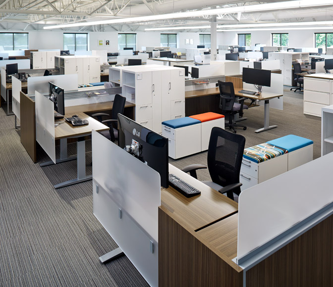 With Areas And Furniture Which Help Individuals Collaborate Learn Interact Focus The Headquarters Represents How Customers Can Use National S