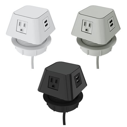 (2) Power outlets and (2) USB-A dual ports