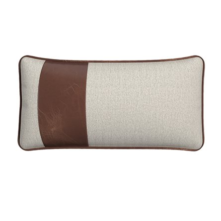 Rectangle Pillow with Piping and Stripe - Left