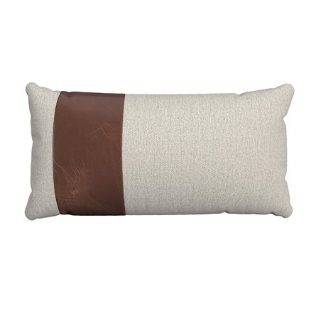 Rectangle Pillow with Stripe - Left