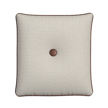 Square Pillow with Button and Piping