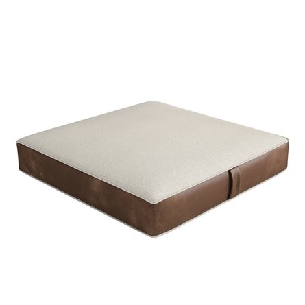 Floor Pillow with Contrasting Sides