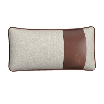 Rectangle Pillow with Piping and Stripe - Right