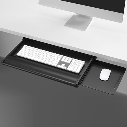 white computer desk with keyboard tray narrow accessories accents keyboard tray mouse pad national office furniture