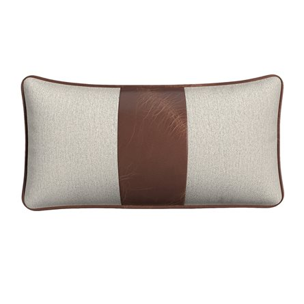 Rectangle Pillow with Piping and Stripe - Center